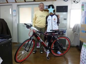 自転車2ショット