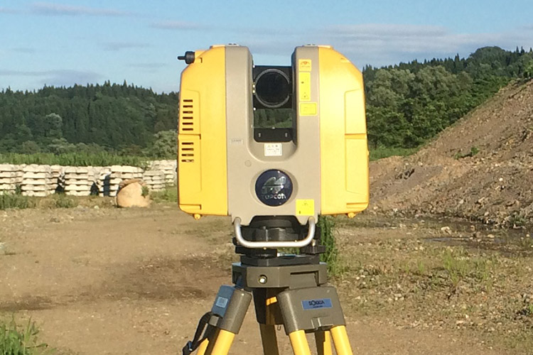 地上レーザースキャナーを利用した計測